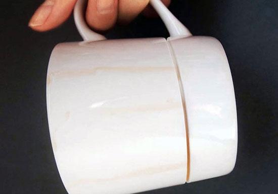 فنجان ,فنجان جالب ,فنجانی با طراحی جالب,طراحی جالب فنجان ,فنجانی برای جلوگیری از کثیف شدن میز ,طرح جدید فنجان, Kim Keun Ae ,طراحی از کره جنوبی, طراح کره ای