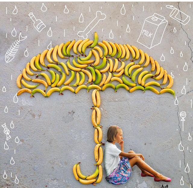 تصاویر جالب از نقاشی با میوه ها