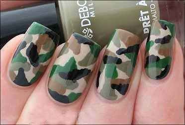 آموزش طراحی ناخن,طراحی ناخن,طراحی ناخن مدل ارتشی