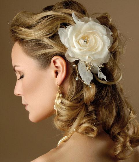 آرایش و موی عروس نو عروس  , آرایش و شینیون موی عروس 4