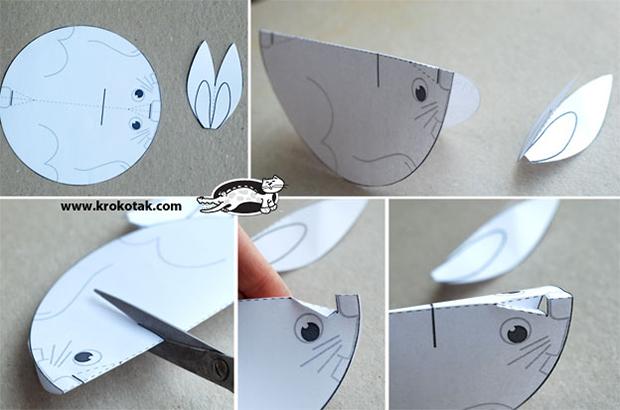 الگوی حیوان با مقوا آموزش ساخت حیوانات کاغذی (2) - مجله تصویر زندگی mimplus.ir