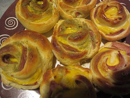 طرز تهیه رزت ژامبون - فست فود - شام تولد