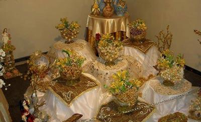 تزئینات عقد و عروسی نو عروس  , نمونه سفره عقد - سری اول