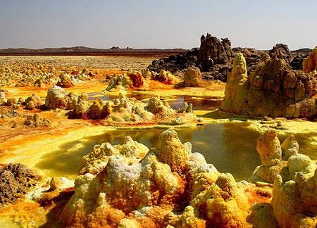 جاذبه های سایر کشورها گردشگری  , تصاویری زیبا از آتشفشان Dallol اتیوپی