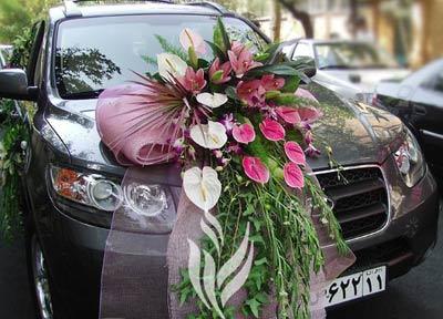 مدل های جدید تزئین ماشین عروس ۱