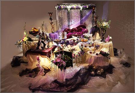 تزئینات عقد و عروسی نو عروس  , نمونه سفره عقد - سری سوم