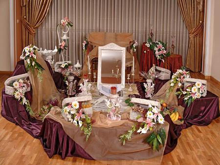 تزئینات عقد و عروسی نو عروس  , نکاتی در مورد چیدن سفره عقد