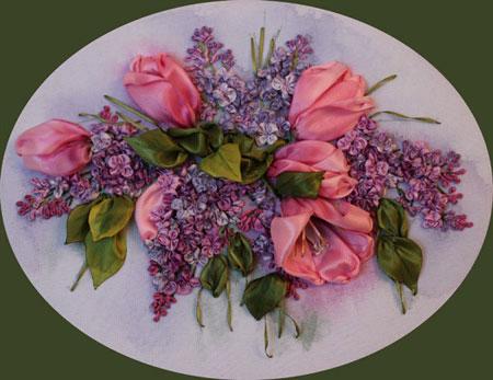 آموزش گل روبانی ( گل لاله )