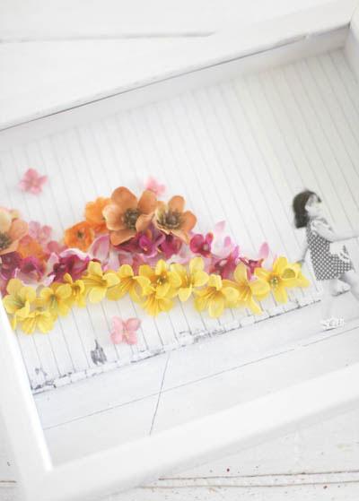تزیین عکس با گل,تزیین قاب عکس
