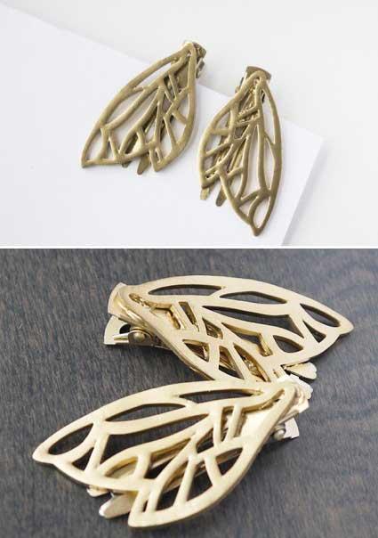 ساخت زیورآلات شکل بال پروانه  جواهرات