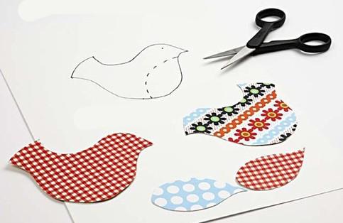 الگوی پرنده - تزیین کوسن - تزیین بالش