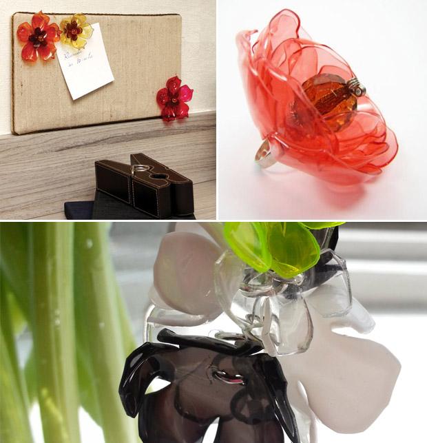 آموزش گل سازی  , آموزش ساخت گل با بطری نوشابه