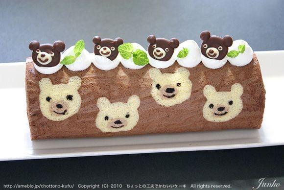 نان، شیرینی، دسر  , نمونه هایی از کیک رولتی طرح دار 1
