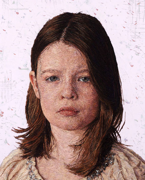 گلــدوزی ,Cayce Zavagliaby ,خلاقیت, هنرنمایی, گلــدوزی خلاقانه ,گــلدوزی زیبا ,نقاشی گلــدوزی شده ,نقاشی های دوخته شده