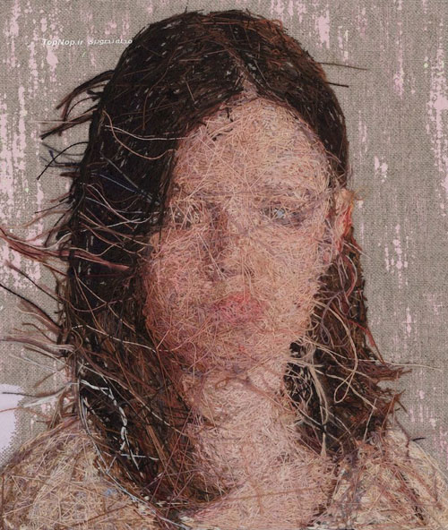 نقاشی های بافته شده +عکس