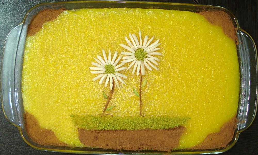 سفره آرایی  , ایده هایی برای تزئین شله زرد