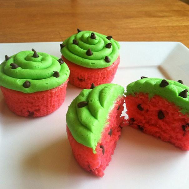 چند نمونه تزئین کاپ کیک ساده