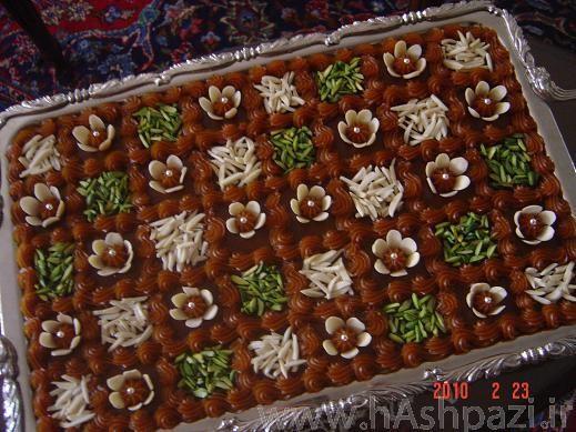 ایده هایی برای تزئین حلوا برای سفره افطار