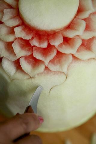 سفره آرایی  , میوه آرایی شب یلدا - تزیین هندوانه