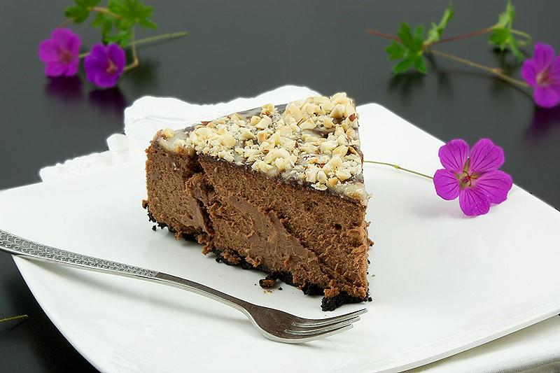 چیز کیک شکلاتی بدون پخت