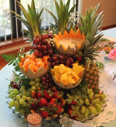 آموزش میوه آرایی شب یلدا , تزیین میوه های شب یلدا