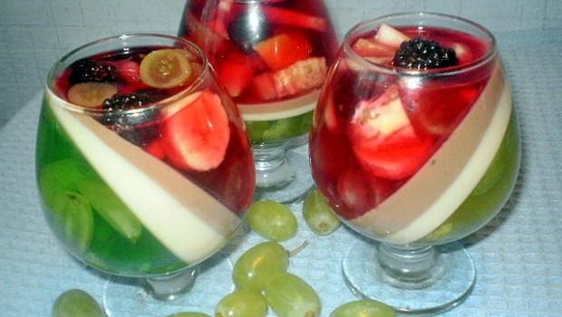ژله با میوه