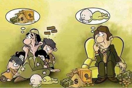 کاریکاتـور فقر, کاریکاتور و تصاویر طنز, عکس های خنده دار, کاریکاتور کارتون خوابی, کاریکاتور مفهومی, فقر, کاریکاتور فقر در ایران, کاریکاتور فقیر و غنی, عکس های طنز و خنده دار