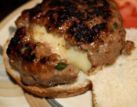 چیزبرگر درون پنیری,پخت چیزبرگر درون پنیری
