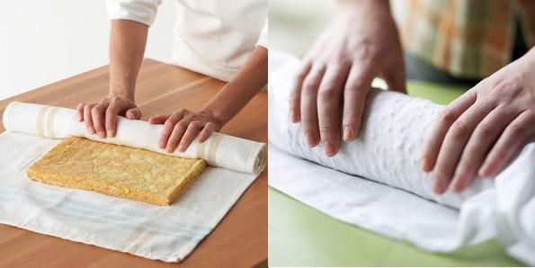 نحوه رول کردن کیک