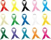 روبانهای رنگی,نماد بیماری ها,روبانهای رنگی نماد چه بیماریهایی هستند