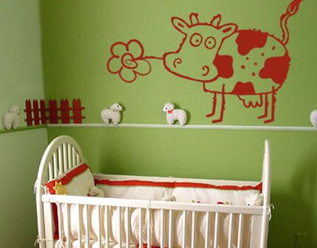 الگوی استنسـِل , الگوی نقاشی روی دیوار