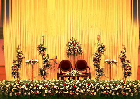 تزئینات عقد و عروسی نو عروس  , جدیدترین چیدمان و تزیینات جایگاه عروس و داماد
