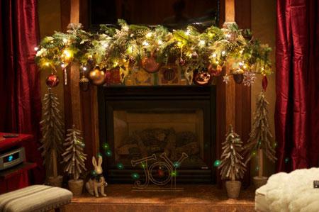 نمونه های چیدمان و تزیین منزل در کریسمس 2015-دکوراسیون کریسمس