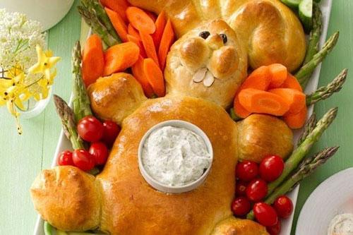 طرز تهیه نان به شکل خرگوش