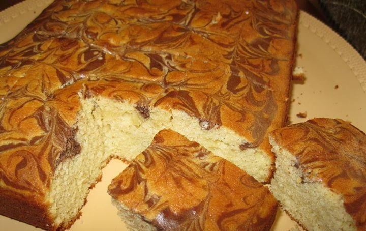 کیک با رویه مرمری