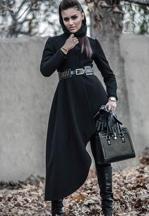 عکس مدل پالتو زنانه مشکی