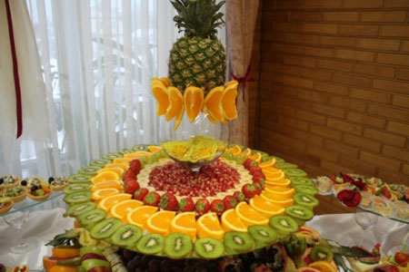 سفره آرایی  , نمونه هایی از میوه آرایی های شیک شب یلدا