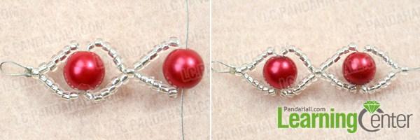 Make basic red pearl bracelet
