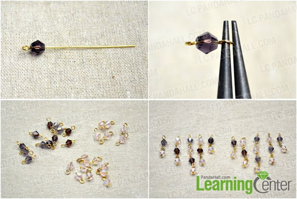 make beaded links and dangles for the rest part