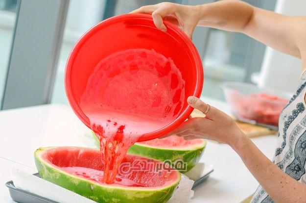 طرز تهیه ژله هندوانه ای شب یلدا