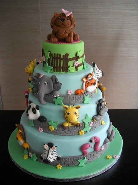 تزیین کیک تولد با شکل حیوانات مجله تصویر زندگی