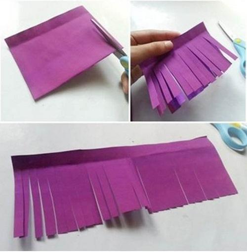 ساخت گل با کاغذ رنگی - آموزش گلسازی - درست کردن گل کاغذی