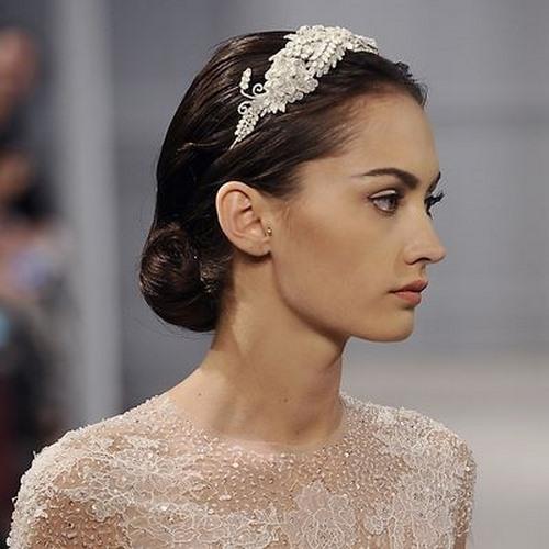 شینیون مو, آرایش عروس, آرایش موی عروس, مدل موی عروس , شینیون موی عروس