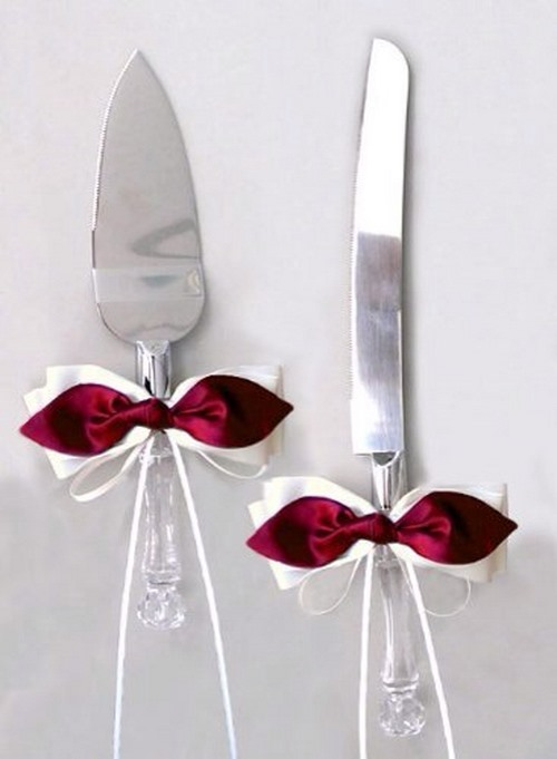 نمونه هایی از تزیین چاقو ی کیک - مجله تصویر زندگی
