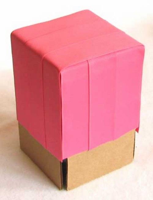 آموزش تصویری ساخت جعبه,ساخت جعبه کادو, تزئین جعبه کادو