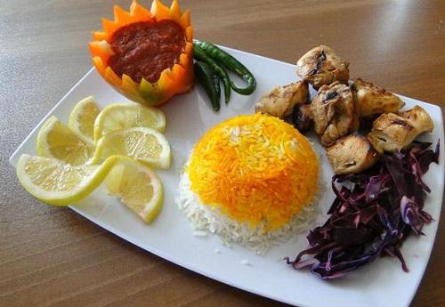 تزیین جوجه کباب - تزیین غذا - سفره آرایی