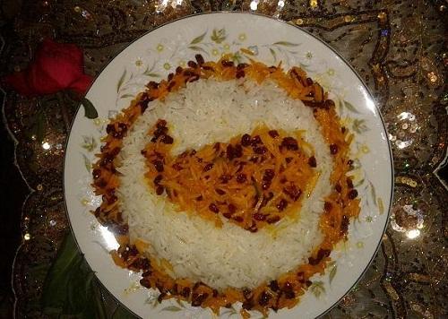 عکس تزیین پلو ته چین جوجه برنج چلو کباب