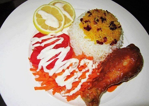 تزئین پلو - تزئین چلو مرغ - تزیین غذا