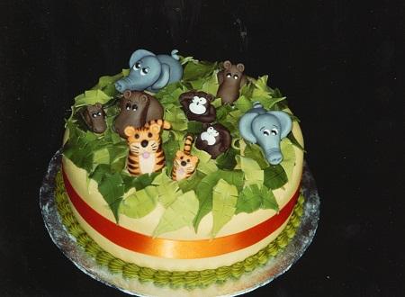 تزئین کیک تولد - مدل کیک تولد - کیک تولد به شکل حیوانات - تزیین کیک با حیوانات خمیری