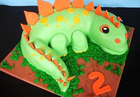 عکس مدل کیک - تزیین کیک - کیک تولد به شکل دایناسور